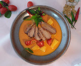 Ente mit rotem Curry